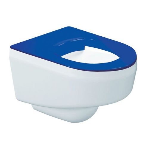 DVS High Security Wall-Hung WC Pan - Blue